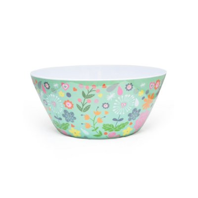 Bowl Florido Em Melamina Verde Rice