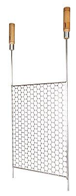 810 - Grelha Tela Moeda Inox - 38 cm (L) x 85 cm (P)