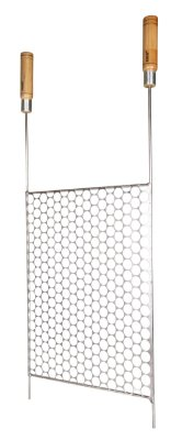811 - Grelha Tela Moeda  Inox - 50 cm (L) x 85 cm (P)