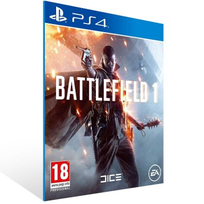 PS4 - Battlefield 1 - Digital Código 12 Dígitos Americano