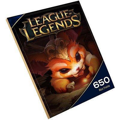 Pc Game - League of legends 650 Rp Riot