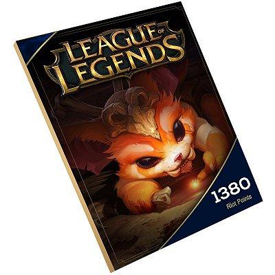 Pc Game - League of legends 1.380 Rp Riot