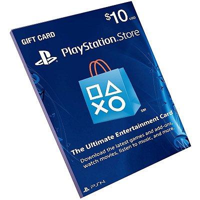 Cartão Pré-Pago Playstation Network $10 Dólares