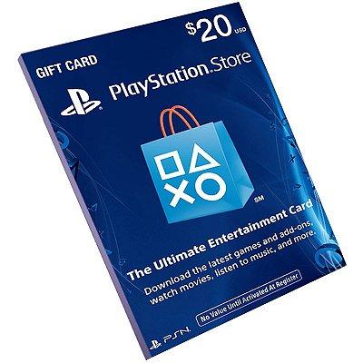 Cartão Playstation Network $20 Dólares