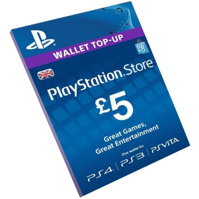 Cartão Playstation Network £5 UK Reino Unido