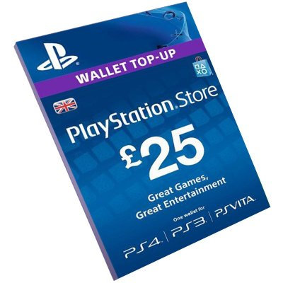 Cartão Playstation Network £25 UK Reino Unido