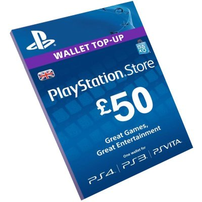 Cartão Playstation Network £50 UK Reino Unido