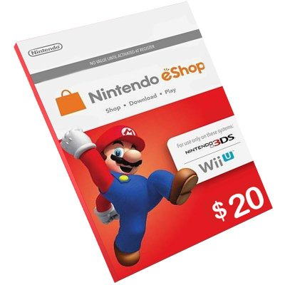 Cartão Pré-Pago Nintendo E-Shop $20 Dólares