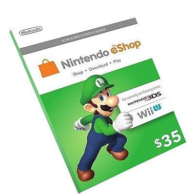 Cartão Pré-Pago Nintendo E-Shop $35 Dólares