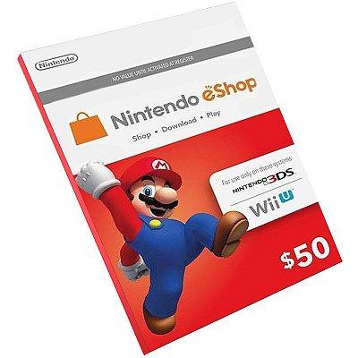 Cartão Pré-Pago Nintendo E-Shop $50 Dólares