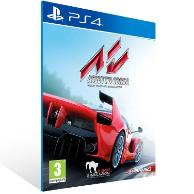 PS4 - Assetto Corsa - Digital Código 12 Dígitos Americano