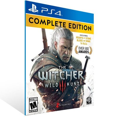 PS4 - The Witcher 3 Wild Hunt Complete Edition - Digital Código 12 Dígitos US