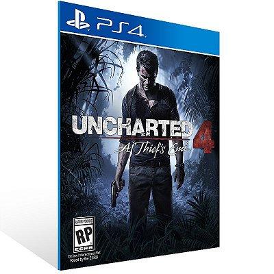 PS4 - Uncharted 4 A Thief's End - Digital Código 12 Dígitos Americano