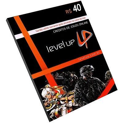 Cartão Pré-Pago Level Up R$40 Reais