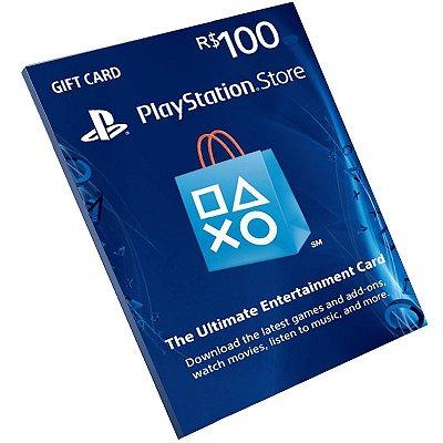 Cartão Playstation Network R$100 Reais