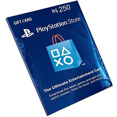 Cartão Pré-Pago Playstation Network R$250 Reais