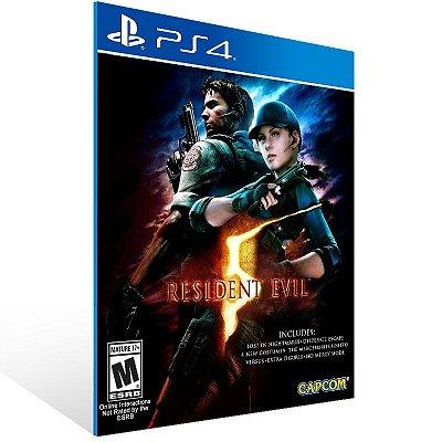 PS4 - Resident Evil 5 - Digital Código 12 Dígitos Americano