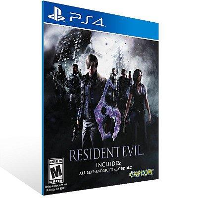 PS4 - Resident Evil 6 - Digital Código 12 Dígitos Americano