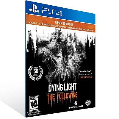 PS4 - Dying Light: The Following - Enhanced Edition - Digital Código 12 Dígitos Americano