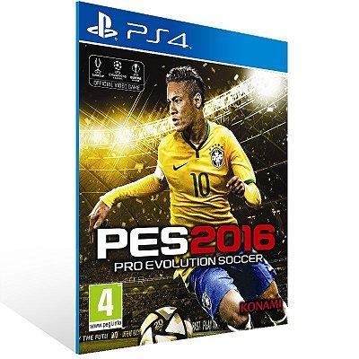 PS4 - PES 2016 - Digital Código 12 Dígitos Americano