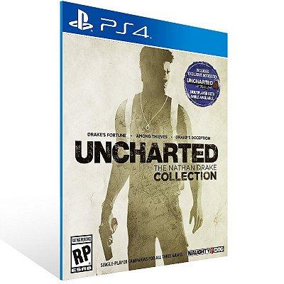 PS4 - Uncharted The Nathan Drake Collection - Digital Código 12 Dígitos Americano