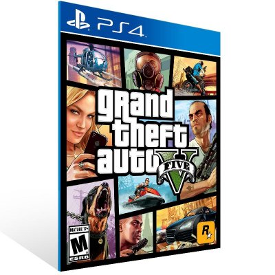 PS4 - Grand Theft Auto V - Digital Código 12 Dígitos Americano