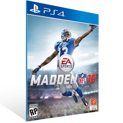 PS4 - Madden NFL 16 - Digital Código 12 Dígitos US