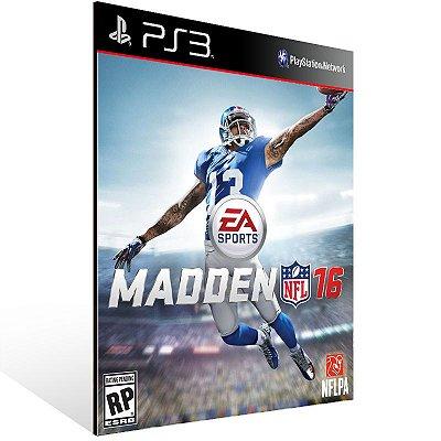 PS3 - Madden NFL 16 Standard Edition - Digital Código 12 Dígitos Americano