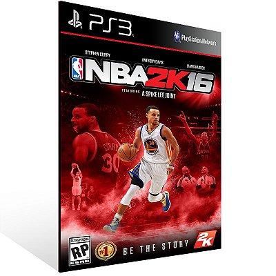 PS3 - NBA 2K16 - Digital Código 12 Dígitos Americano