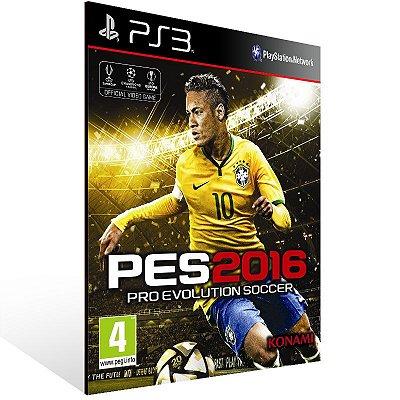 PS3 - PES 2016 - Digital Exclusive Bundle - Digital Código 12 Dígitos Americano