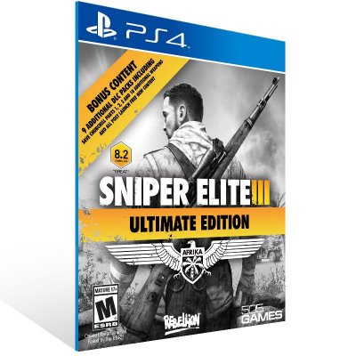 PS4 - Sniper Elite 3 Ultimate Edition - Digital Código 12 Dígitos Americano