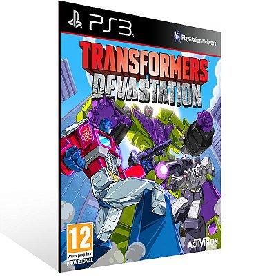 Ps3 - TRANSFORMERS: Devastation - Digital Código 12 Dígitos US