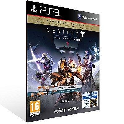 PS3 - Destiny The Taken King - Digital Collector's Edition - Digital Código 12 Dígitos Americano
