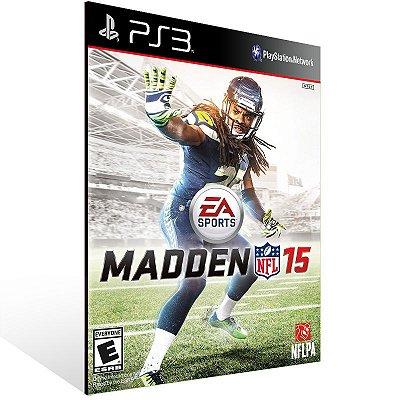 PS3 - Madden NFL 15 - Digital Código 12 Dígitos Americano