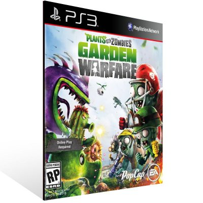 PS3 - Plants vs. Zombies Garden Warfare - Digital Código 12 Dígitos Americano