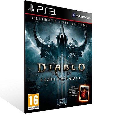 Ps3 - Diablo 3 Reaper of Souls Ultimate Evil Edition - Digital Código 12 Dígitos US