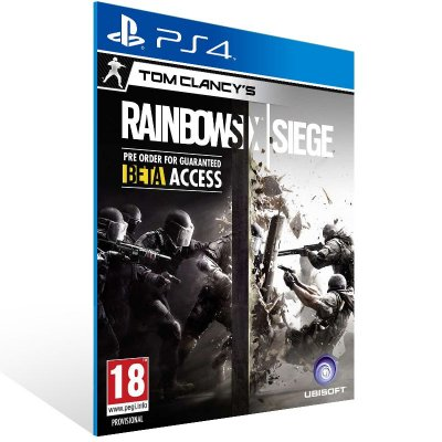 PS4 - TOM CLANCY'S RAINBOW SIX SIEGE  - Digital Código 12 Dígitos Americano