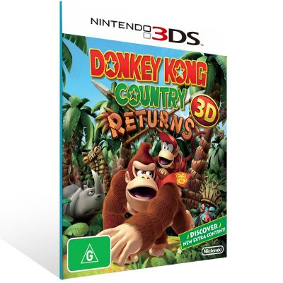 3DS - Donkey Kong Country Returns 3D - Digital Código 16 Dígitos US