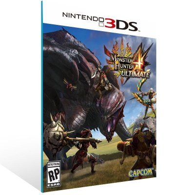 3DS - Monster Hunter 4 Ultimate - Digital Código 16 Dígitos US