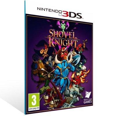 3DS - Shovel Knight - Digital Código 16 Dígitos US