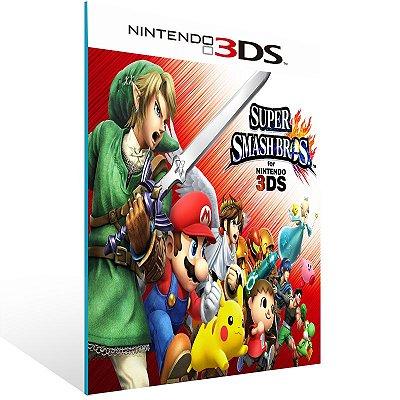 3DS - Super Smash Bros - Digital Código 16 Dígitos US