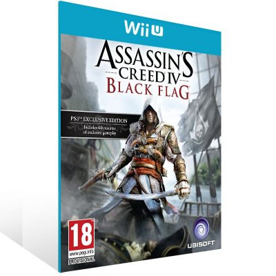 Wii U - Assassin's Creed IV Black Flag - Digital Código 16 Dígitos US
