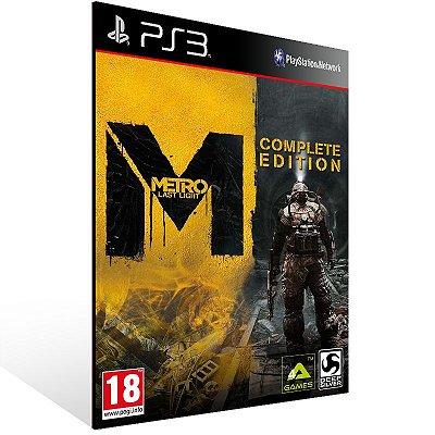 PS3 - Metro Last Light - Complete Edition - Digital Código 12 Dígitos Americano