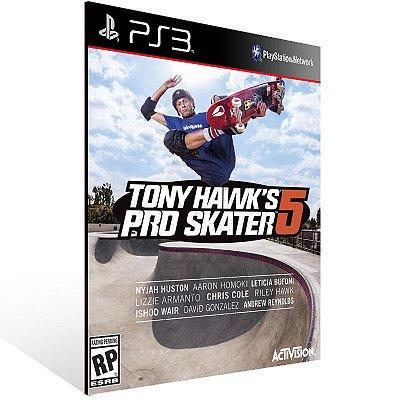 Ps3 - Tony Hawk's Pro Skater 5 - Digital Código 12 Dígitos US