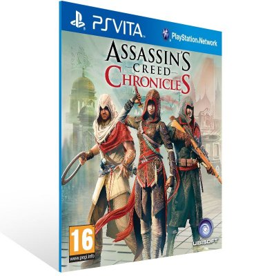 Ps Vita - Assassin's Creed Chronicles Trilogy - Digital Código 12 Dígitos US