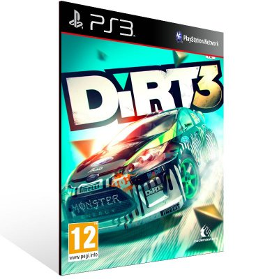 PS3 - DIRT 3 - Digital Código 12 Dígitos Americano