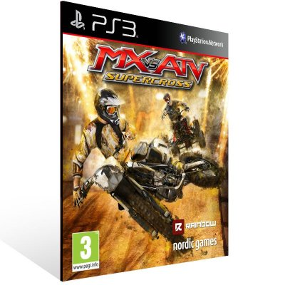 Ps3 - MX vs. ATV Supercross - Digital Código 12 Dígitos US