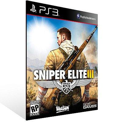 PS3 - Sniper Elite 3 - Digital Código 12 Dígitos Americano