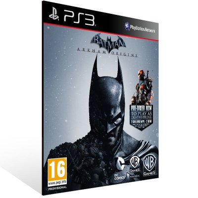 PS3 - Batman: Arkham Origins - Digital Código 12 Dígitos Americano