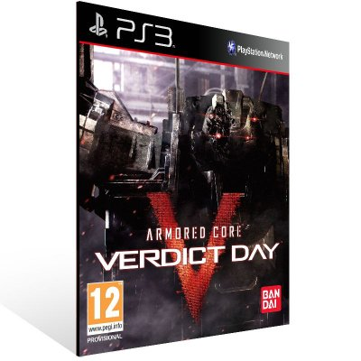 Ps3 - Armored Core Verdict Day - Digital Código 12 Dígitos US